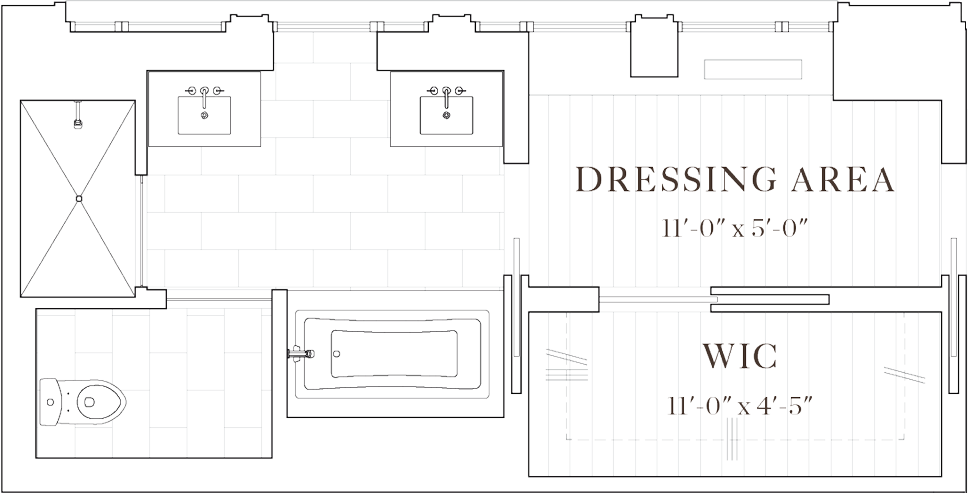 Master Suite Floor Plans Dressing Rooms dressing room with bathroom - 121824w mirror lights modern makeup